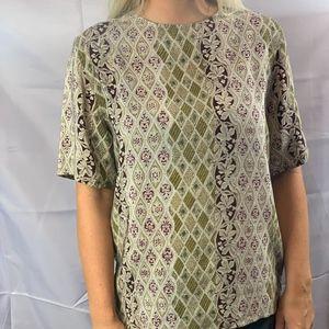 Tess silk short sleeve blouse
